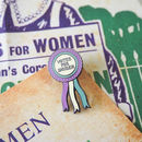 Votes For Women Rosette Enamel Pin