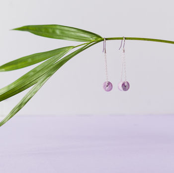 Lilac Marbled Dangle Earrings