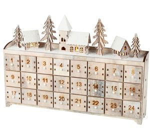 Wooden Winter Village Advent Calendar - advent calendars