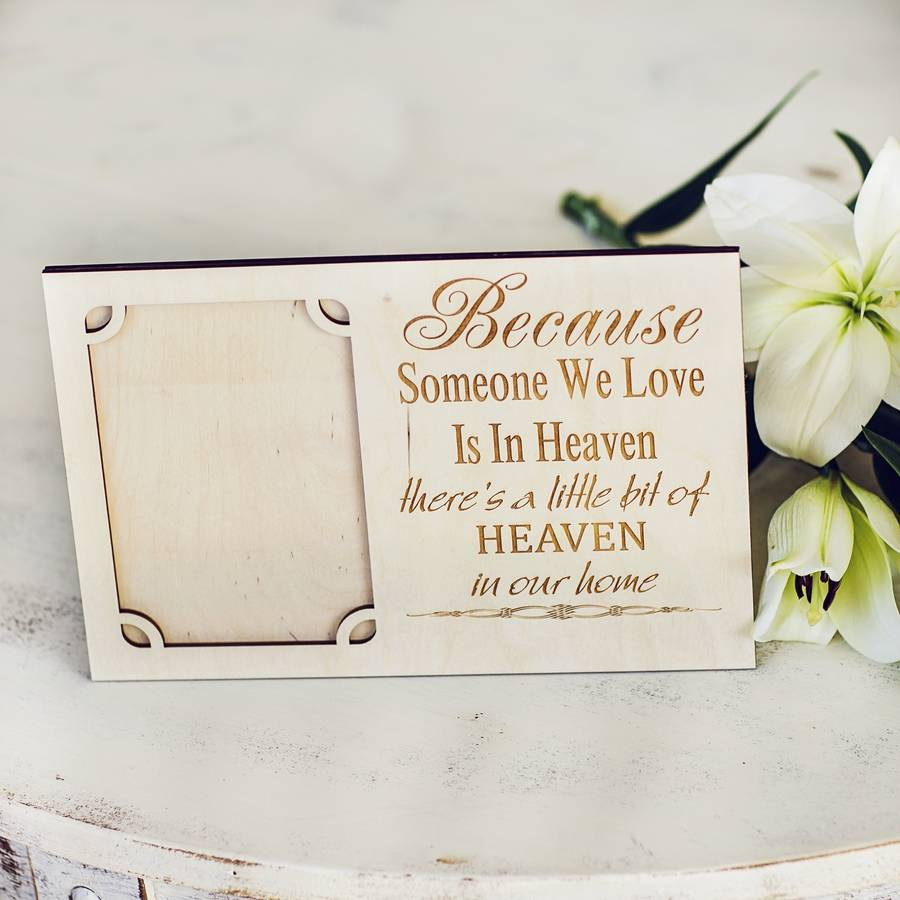 personalised memorial photo frame by natural gift store ...