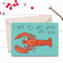 Pinchy Lobster Love Valentines Card