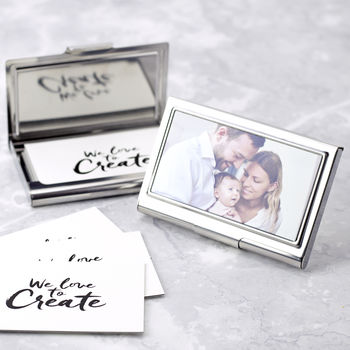 Personalised Photograph Business Card Case