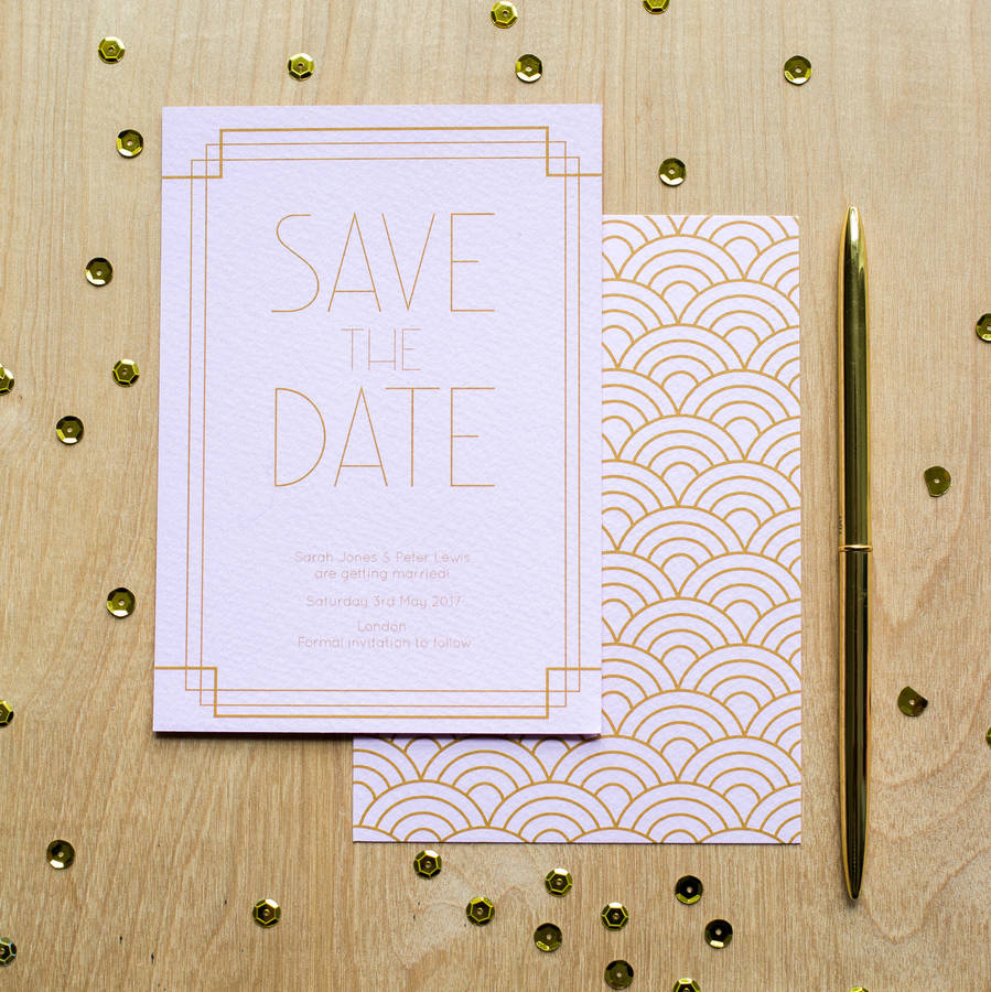 Art Deco Save The Date By Sincerely May Notonthehighstreet Com