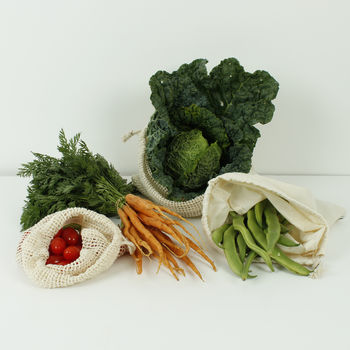 Reusable Organic Cotton Produce Bags