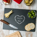 Personalised Couples Slate Cheese Board
