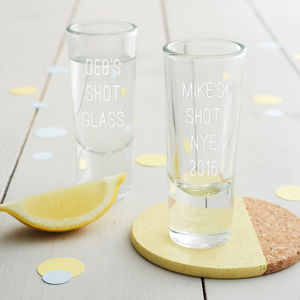 Personalised Shot Glass - home