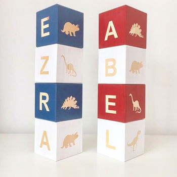 Personalised Dinosaur Play Cubes