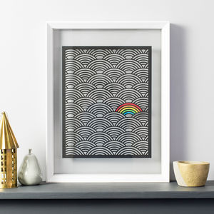Colour Pop Rainbow Papercut - mixed media pictures