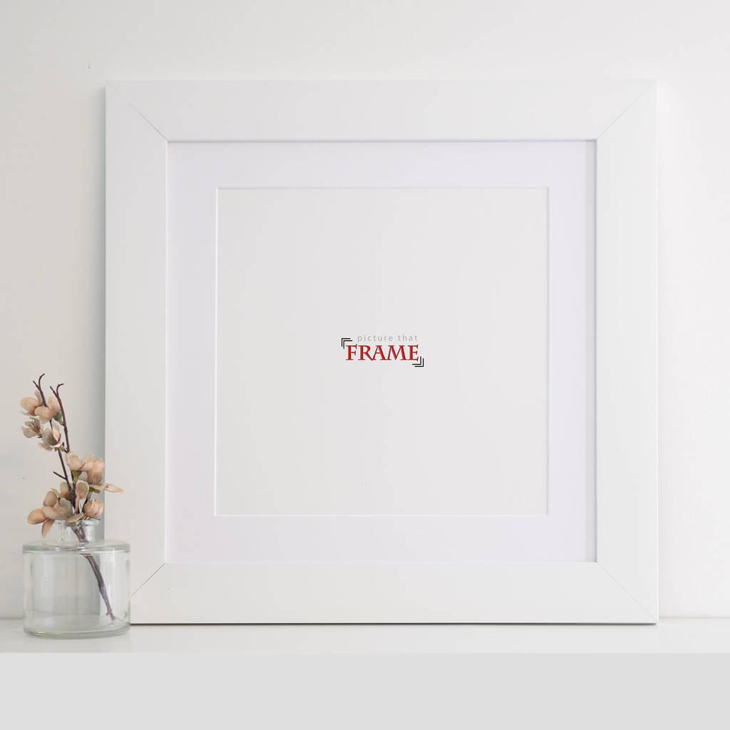 50x50cm Wide White Frame