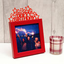 'Happy Birthday' Frame in Red