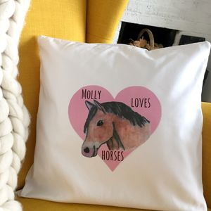 Personalised Horse Lover's Cushion Cover - children's room