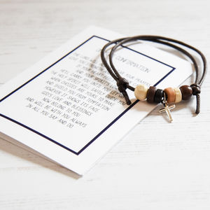 Personalised Boy's Confirmation Bracelet With Verse
