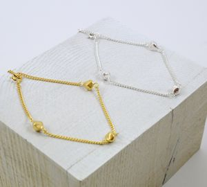 Faceted Silver And Gold Charm Bracelet - bracelets & bangles