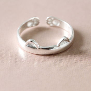 Silver Little Cat Ring