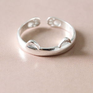 Silver Little Cat Ring - baby & child