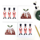 Pack Of Eight Nutcracker And Pudding Christmas Cards