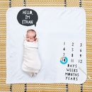 Speech Bubble Baby Milestone Blanket