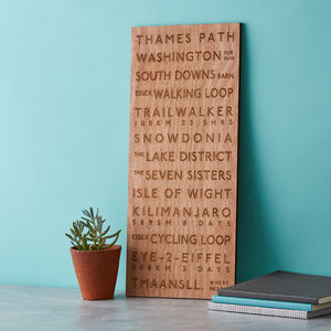 Destination Wooden Anniversary Bus Blind