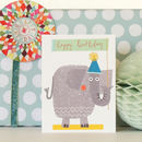 Happy Birthday Elephant Mini Card