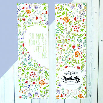 Floral 'So Many Books, So Little Time' Quote Bookmark