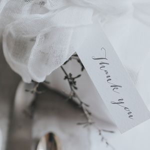 Bliss Grey Gift Tag - wedding favours