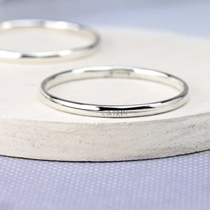 Personalised Babies Silver Bangle - view all sale items