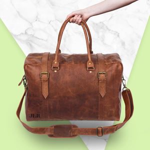 Personalised Leather Eckhart Doctor Holdall - holdalls & weekend bags