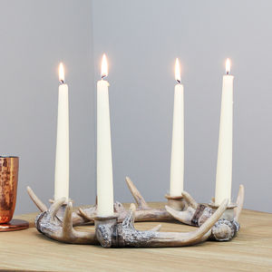 Stag Antler Wreath Candle Holder