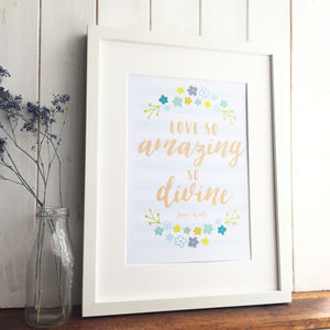 'Love So Amazing' Inspirational Christian Print - posters & prints
