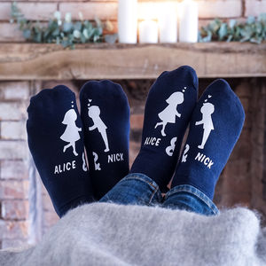 Personalised Kissing Couples Socks - gifts for him