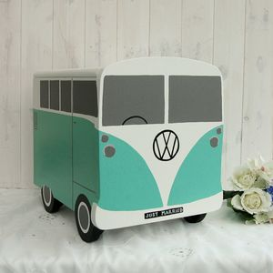 Campervan Personalised Wooden Wedding Post Box