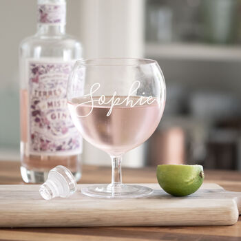 Personalised Low Gin Glass