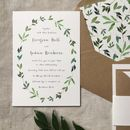 Botanical Garden Wedding Invitation