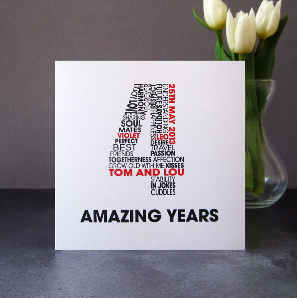Personalised Anniversary Card By Mrs L Cards