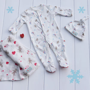 Baby's First Christmas Muslin Gift Set - children's christmas clothing