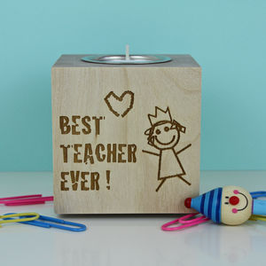 Best Teacher Tea Light Holder