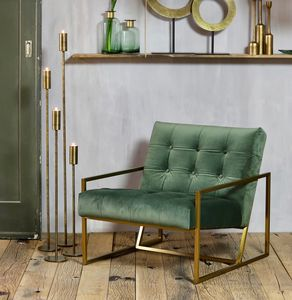 Luxury Olive And Gold Arm Chair - chairs