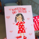 Personalised Big Sister A5 Card