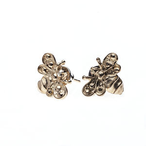 Golden Bee Stud Earring - earrings