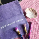 Personalised Make Up Towel Gift with Any Name