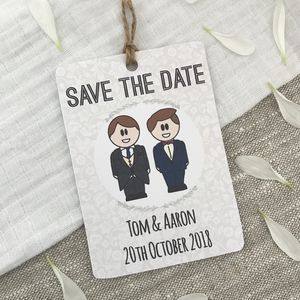 Gay Save The Date Magnet