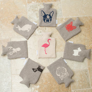 Animal Knitted Design Hot Water Bottle Collection