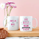 Personalised 'Best Mummy Ever' Secret Message Mug