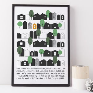 'Little Houses' Print - posters & prints