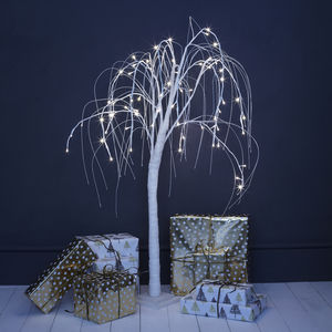White LED Willow Tree - christmas trees