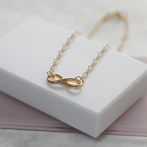 Gold Infinity Symbol Charm Bracelet - view all new