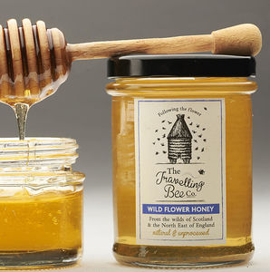 Wild Flower Honey With Honeycomb, Two Jars