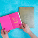 Metallic Fabric Notebook