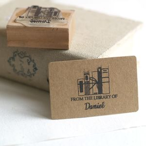 Personalised 'From The Library Of' Rubber Stamp - diy & craft