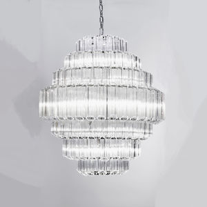 1970s Vintage Style Glass Chandelier - lighting